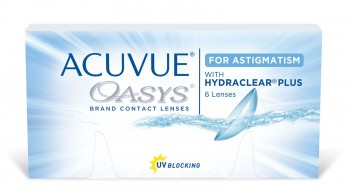 ACUVUE OASYS with HYDRACLEAR PLUS for ASTIGMATISM US$32