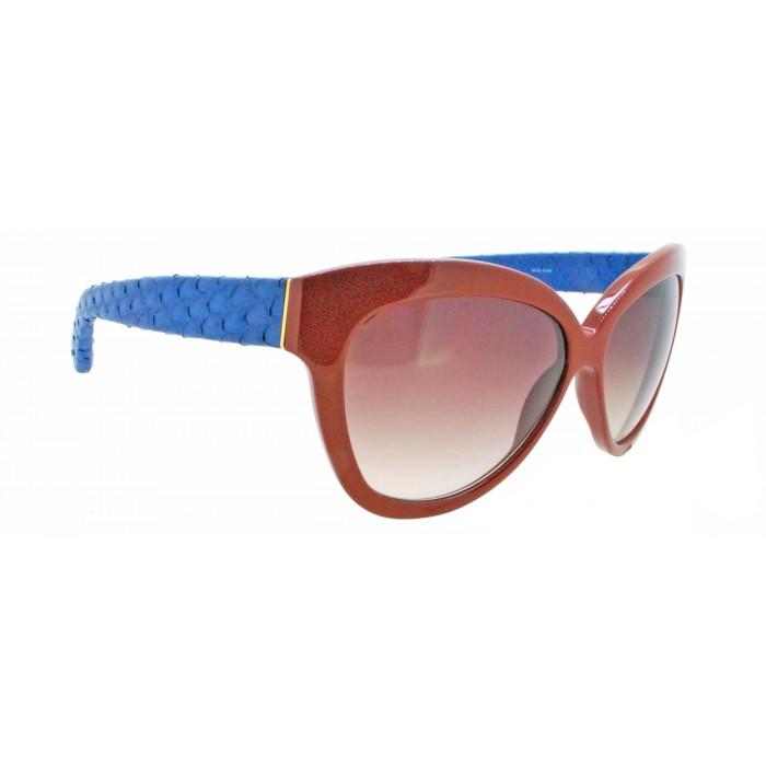 c4aa32cfc06 Linda Farrow LUXE CAT NO.2 38 27 Python Sunglasses